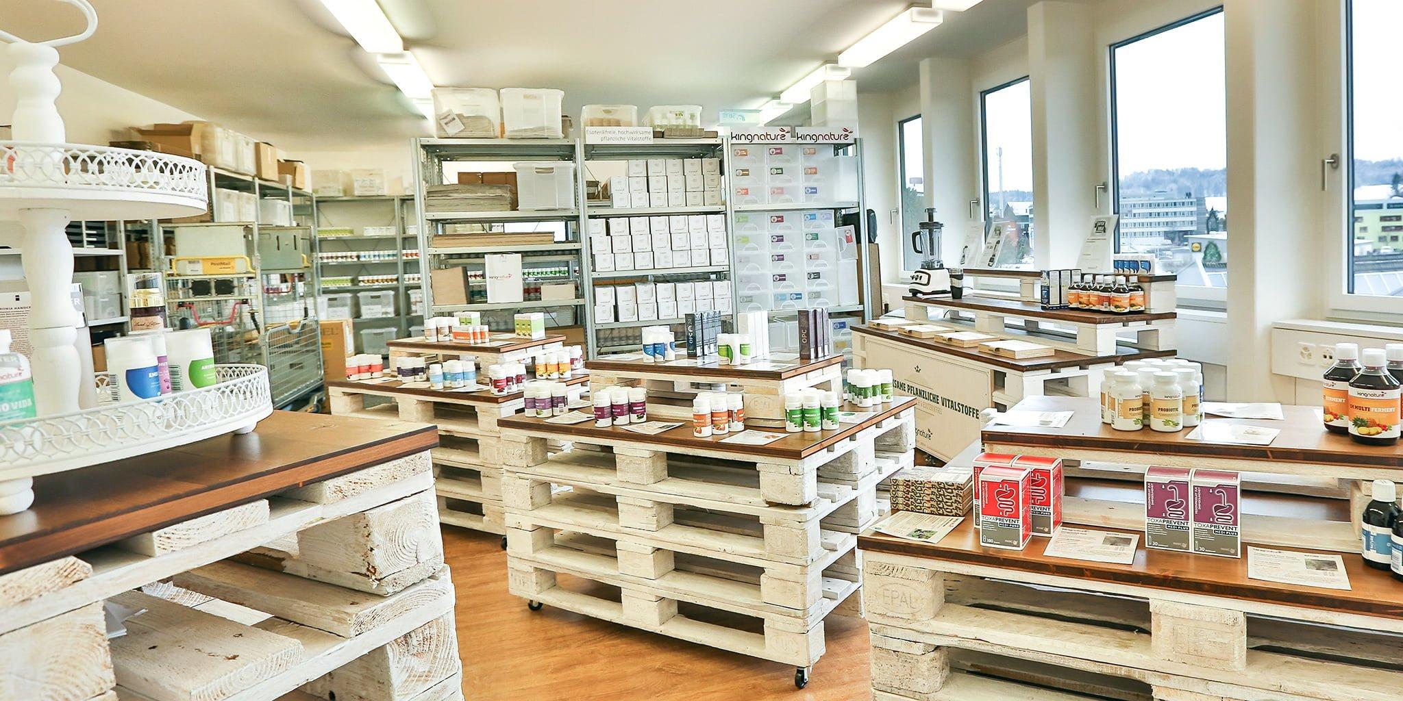Fabrikladen von kingnature in Wädenswil Schweiz